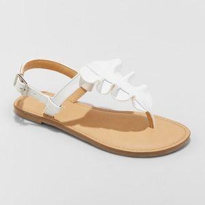 Girls' Naomi Ruffle Thong Sandals